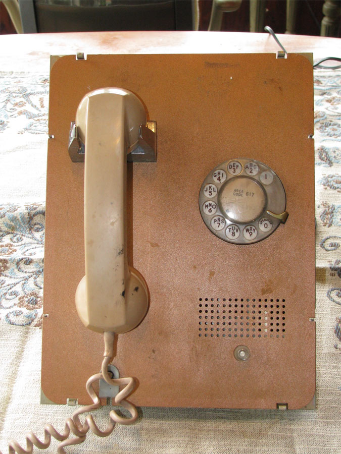 Wall Phone Stamped Brass WESTERN ELECTRIC Style SWITCH HOLE COVER