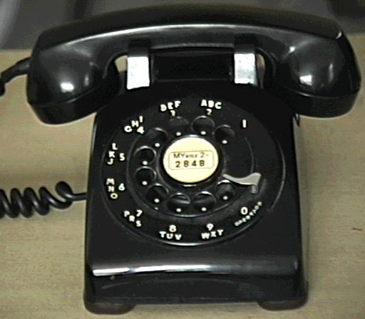 Vintage LONG BLACK Western Electric Telephone Spring Cord Phone 500 Princess
