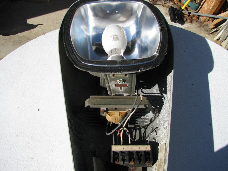 american electric street light how to wire the mercury vapor bulb