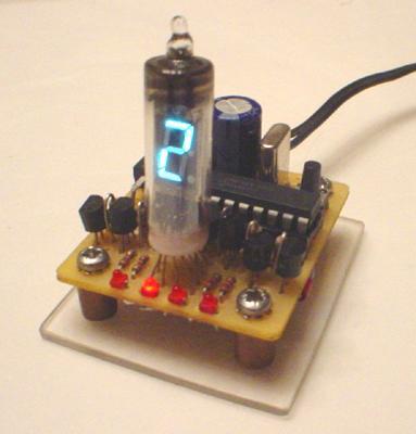 Single Vacuum Fluorescent Display Clock